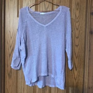Eileen Fisher large purple pullover